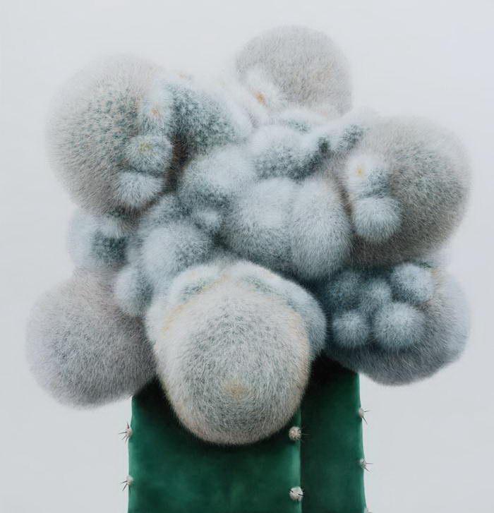 Нарисованные кактусы Kwang-ho Lee