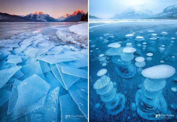 Замерзшие озера и водоемы по всему миру