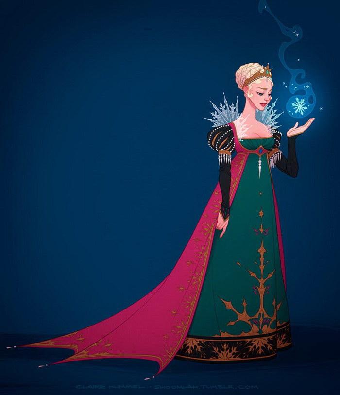 Платья принцесс Диснея в соответствии с историей: проект Claire Hummel
