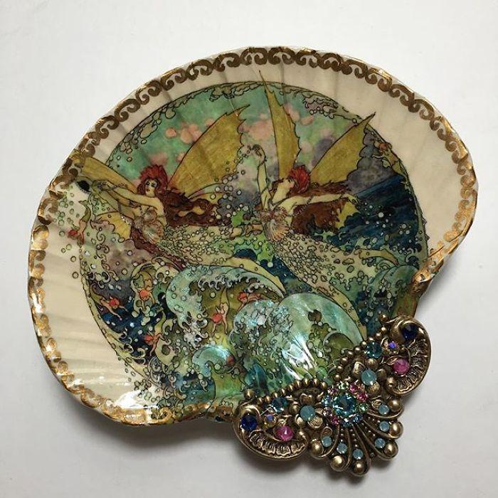Расписные ракушки Mary Kenyon