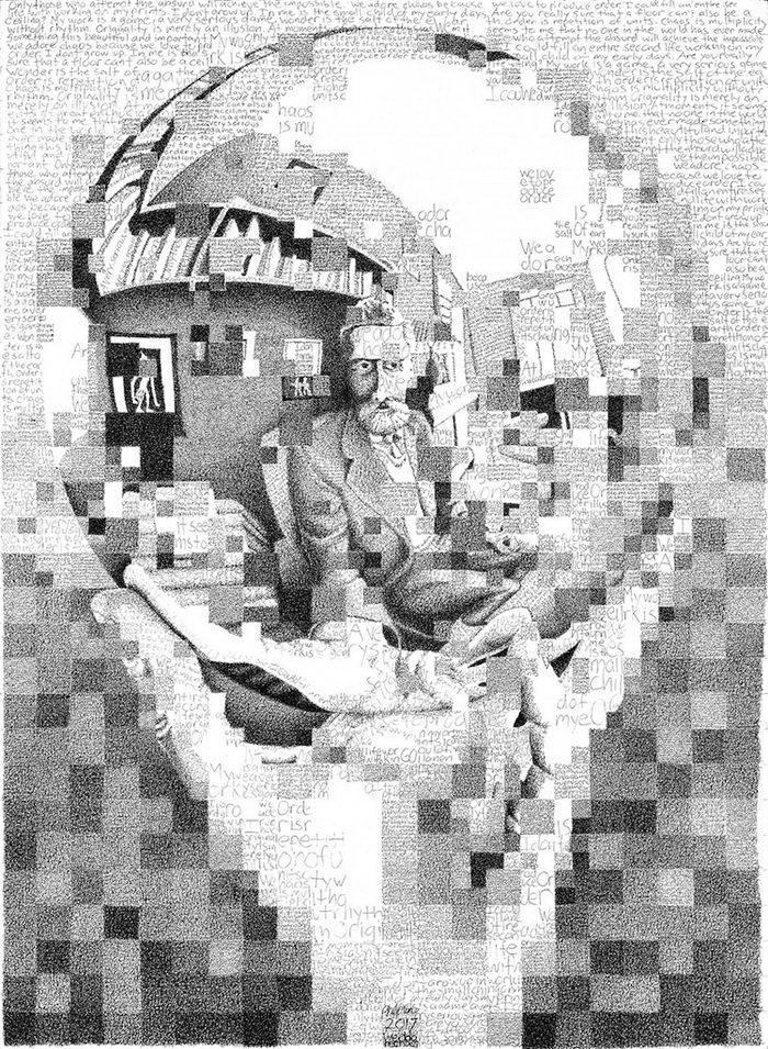 Портреты из букв и предложений Phil Vance