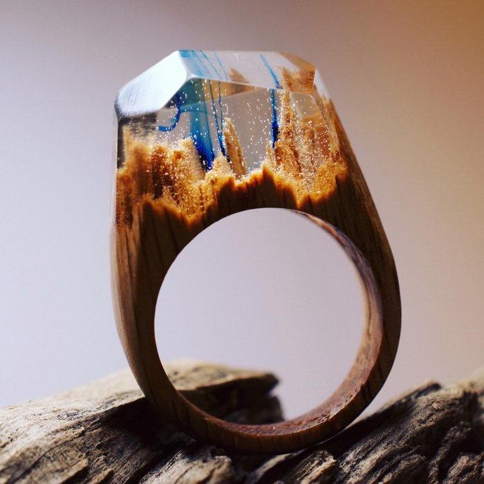 Необычные хенд-мейд кольца Secret Wood