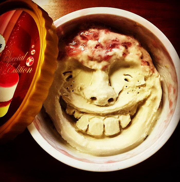 Лица из мороженого: фотопроект Asano Makoto