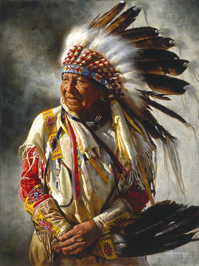 Индейцы в картинах Alfredo Rodriguez