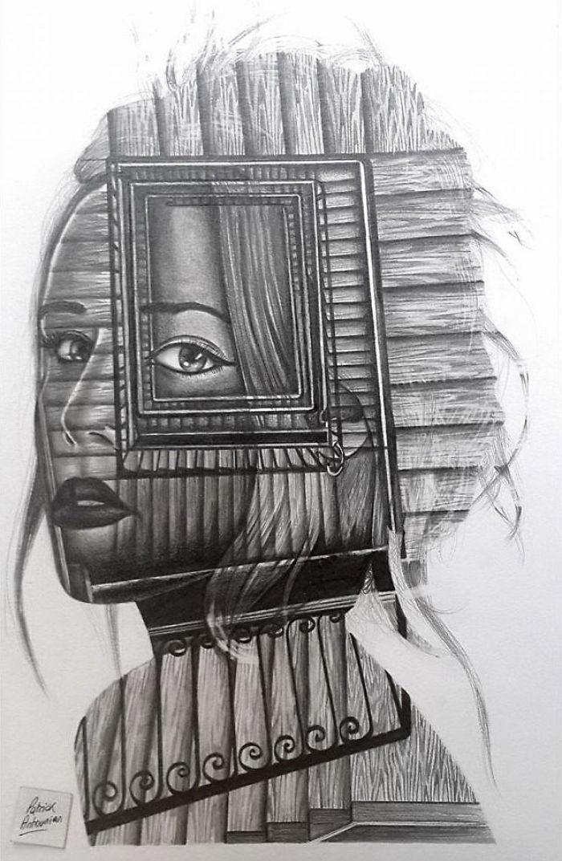 Двойная экспозиция в рисунках Patrick Antounian
