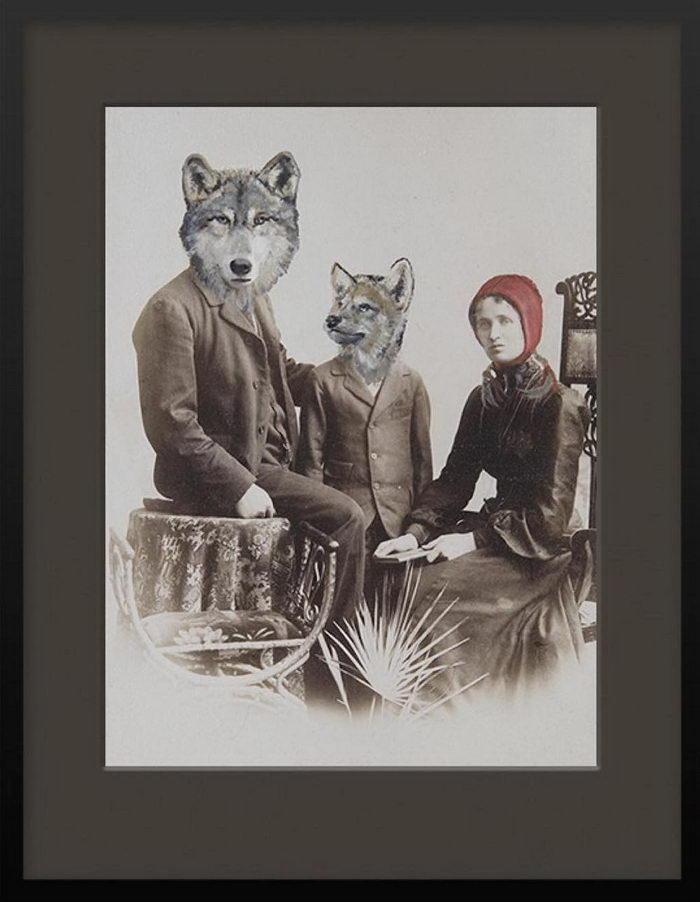 Животные на старых фотографиях: работы Anja Wulfing