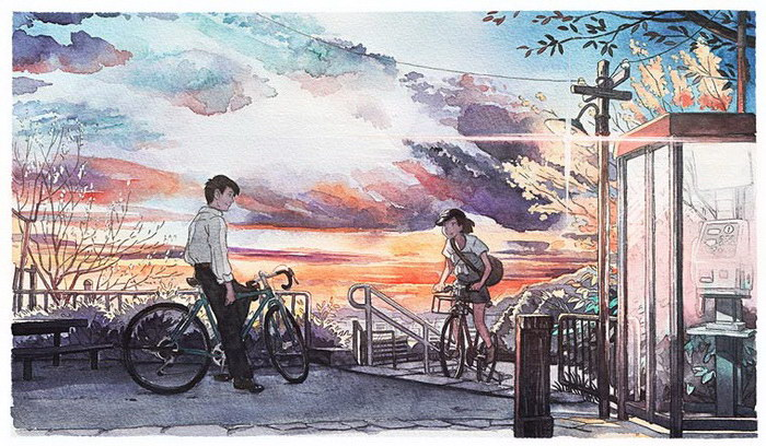 Мальчик на велосипеде: рисунки Mateusz Urbanowicz