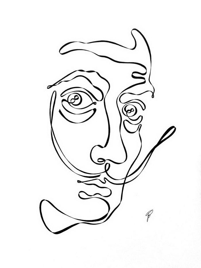 Рисунки из одной линии Jo Cabezas