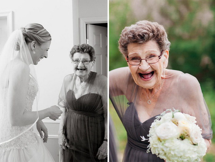 Бабушка будет внука на свадьбу