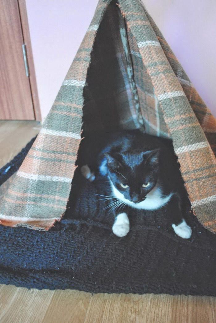 Вигвам для кошки за 5 минут: подробная фото-инструкция