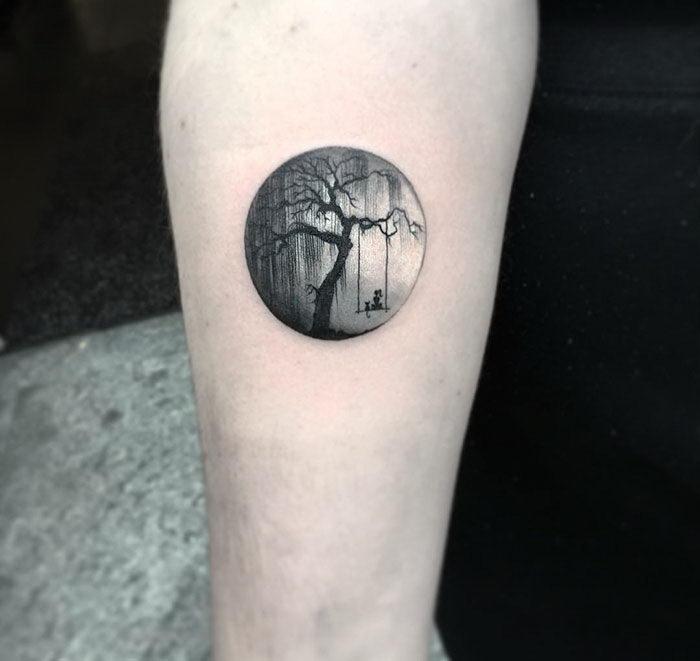 Круглые татуировки Eva Krbdk