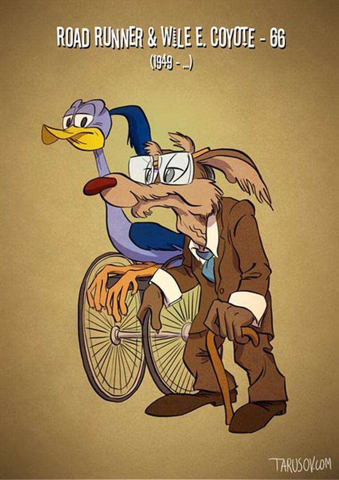 Постаревшие персонажи мультфильмов Disney