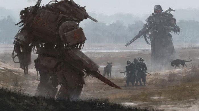 Война прошлого и будущего: картины Jakub Rozalski