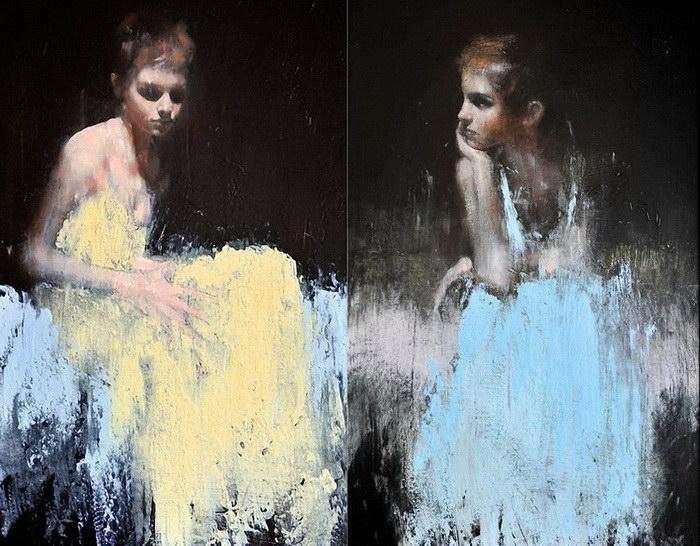 Портреты Эммы Уотсон: картины Mark Demsteader
