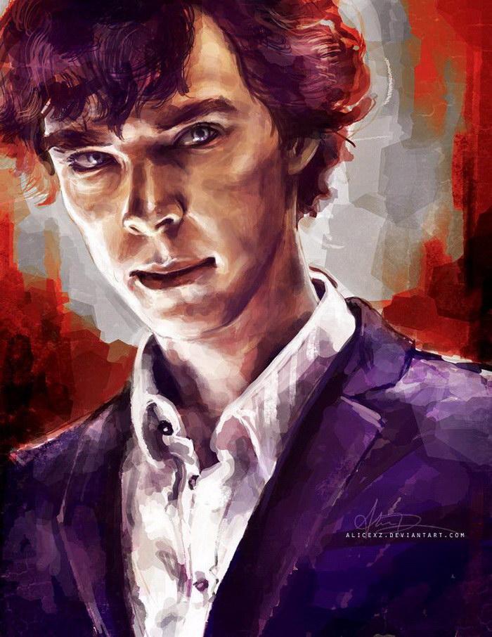 Портреты Benedict Cumberbatch в роли Шерлока: иллюстрации alicexz