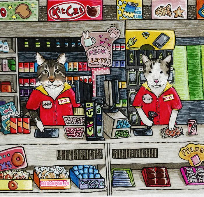 Милые иллюстрации японской жизни meronpan.94