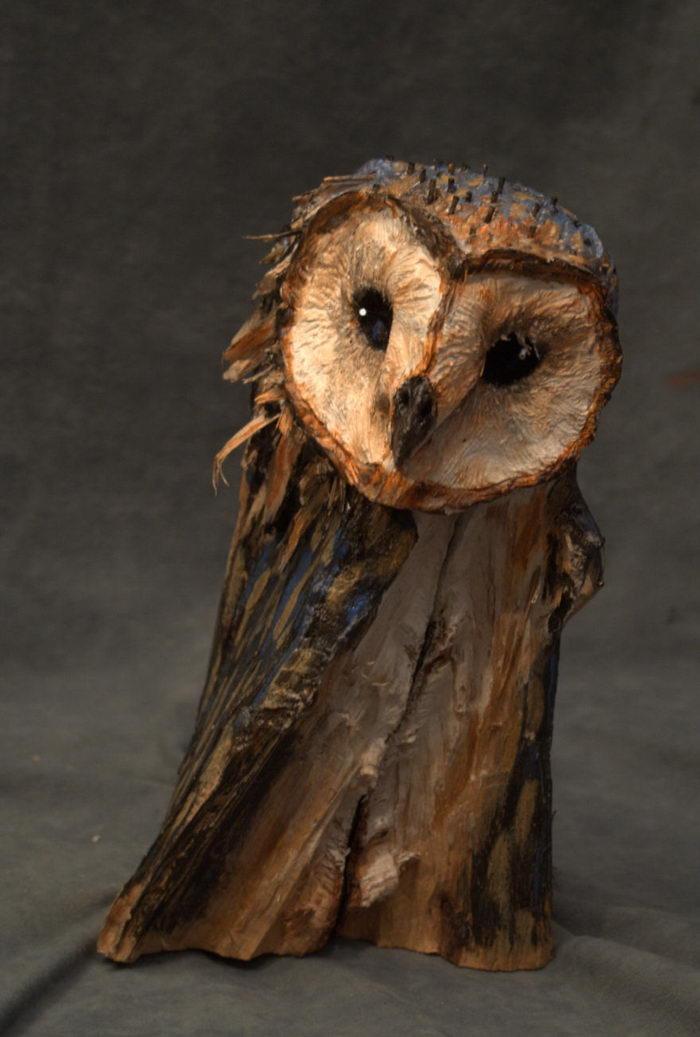 Скульптуры сов из дерева: работы Sasha Montiljo