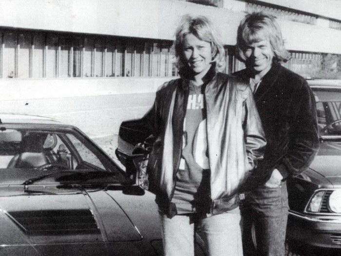 Черно-белые фотографии группы ABBA