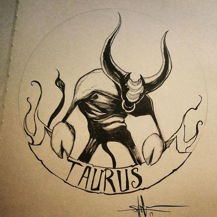 Страшные знаки Зодиака в иллюстрациях? Shawn Coss