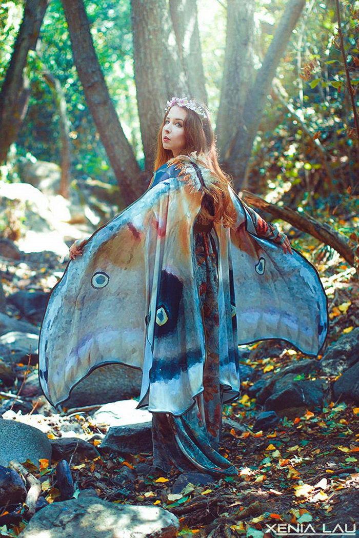 Платки в форме крыльев бабочек: работы Alassie