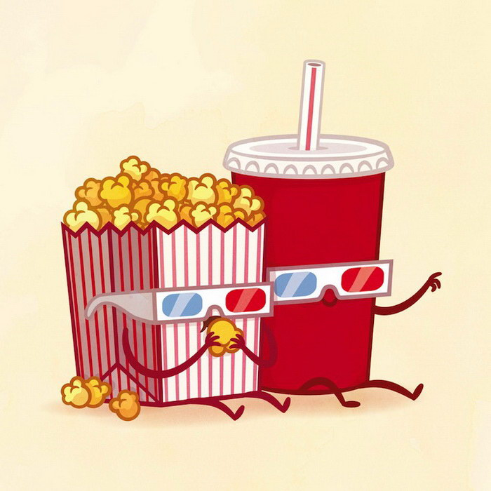 Лучшие друзья из мира еды в иллюстрациях Philip Tseng