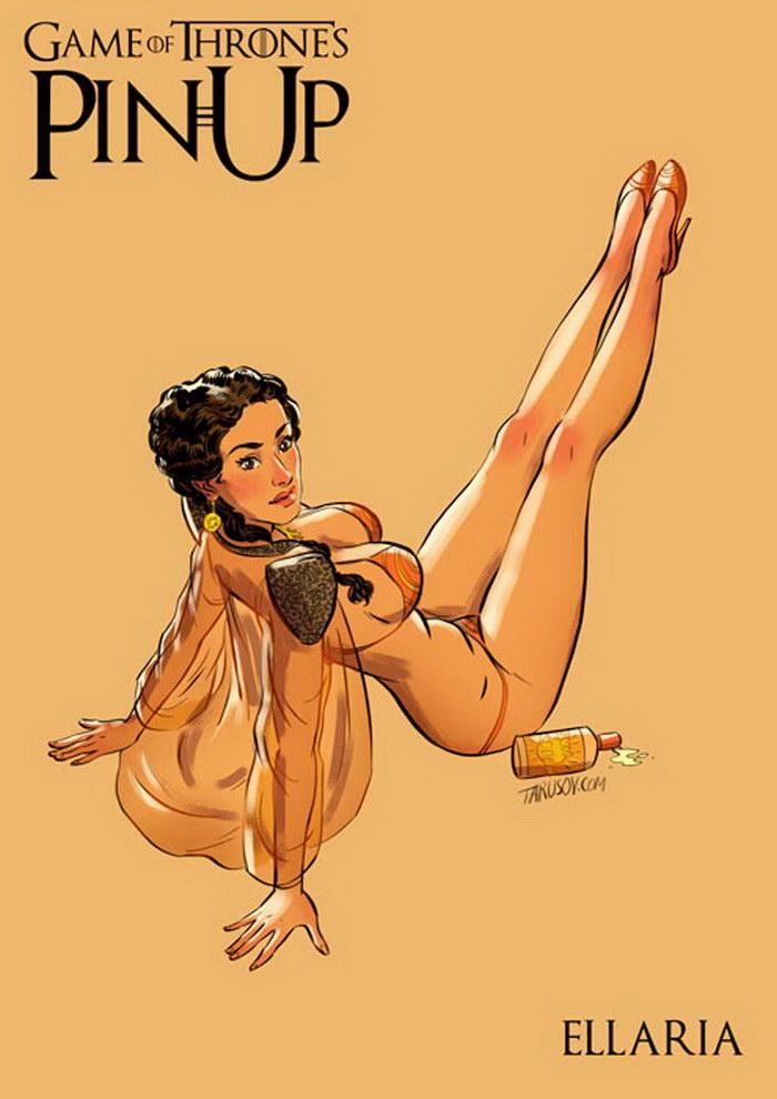 Девушки из сериала Игра Престолов в иллюстрациях Андрея Тарусова
