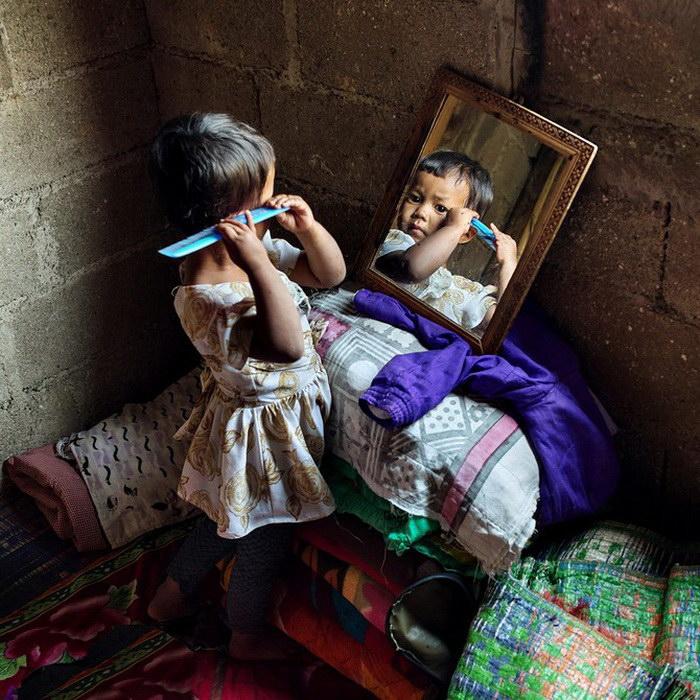 Девочки племени Кхаси, живущие в индийском штате Мегхалая