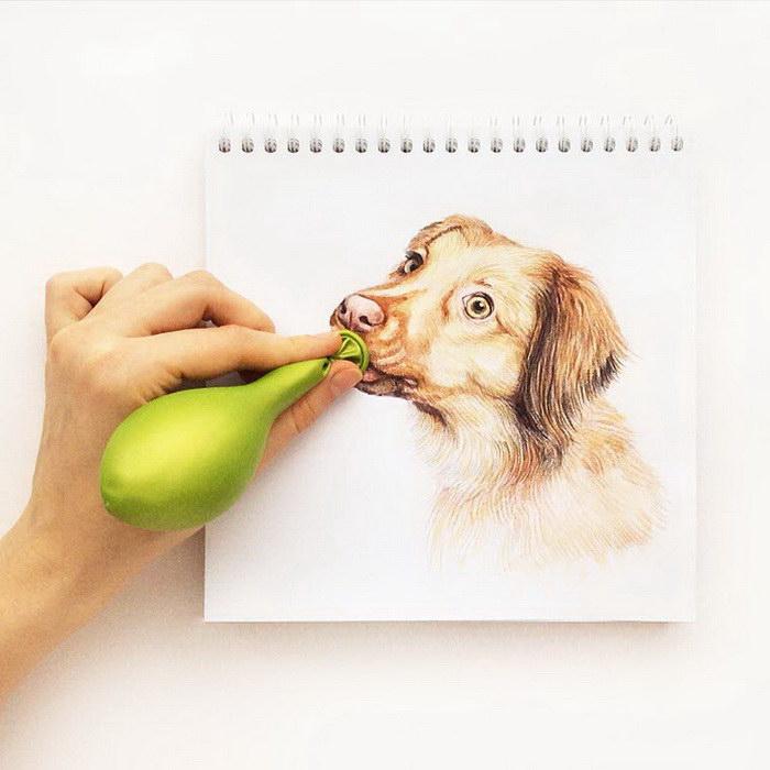 Собачки в картинах Валерии Сусик