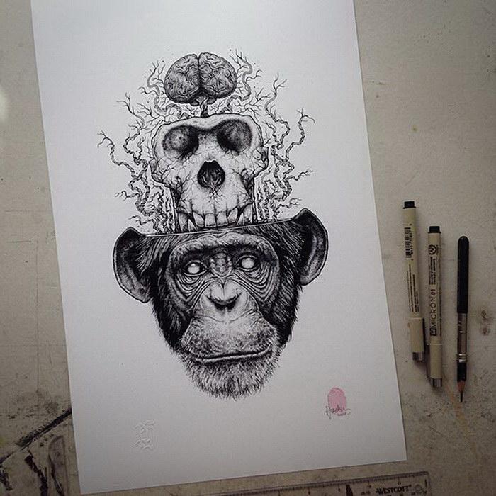 Карандашные рисунки Paul Jackson