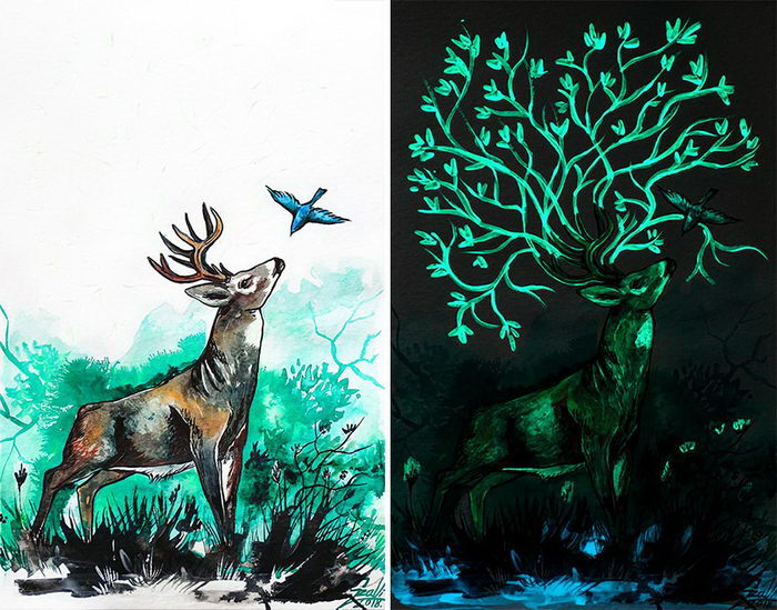 Флуоресцентные картины Vivien Szaniszlo
