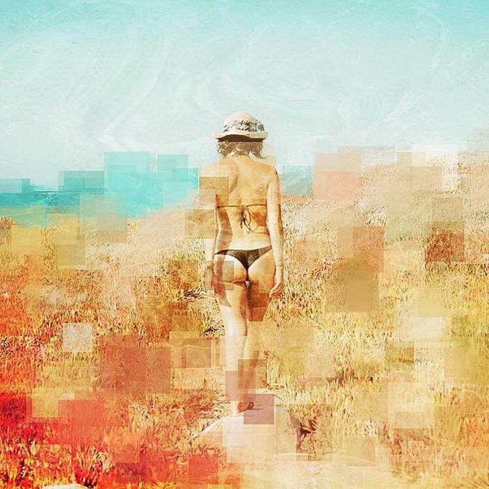 Пикселизированные девушки на фотографиях Richard Bachellier