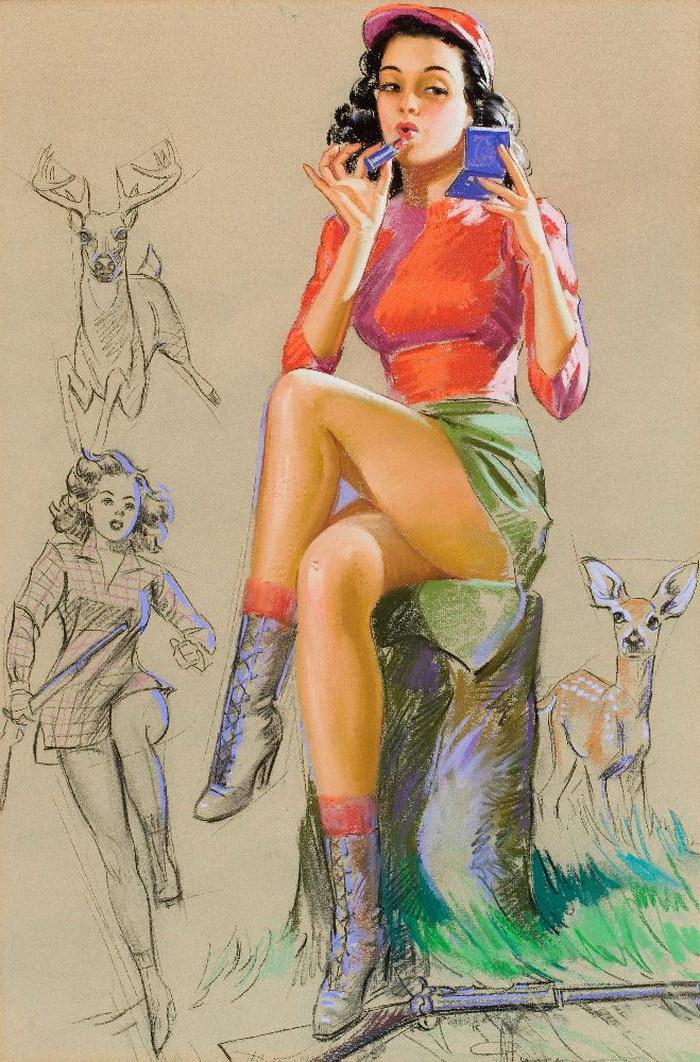 Яркие пин-ап девушки середины XX века