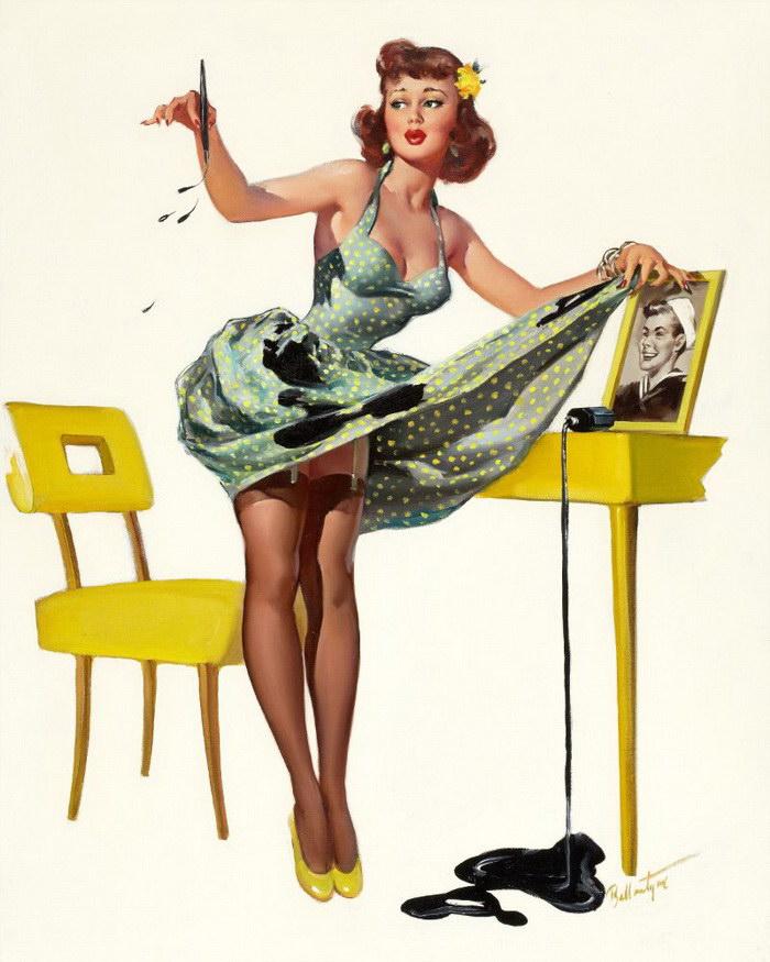 Яркие пин-ап девушки середины XX века (2 часть)