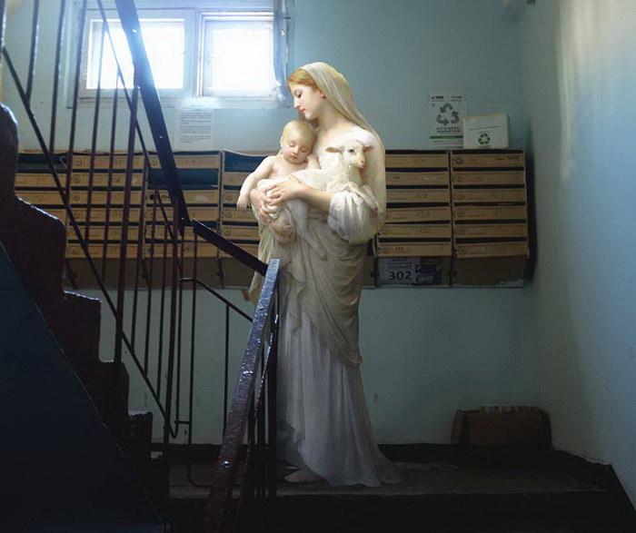 Герои классических картин в современной Украине: проект Alexey Kondakov