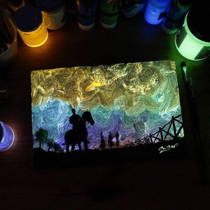 Светящиеся в темноте картины Cristoforo Scorpiniti
