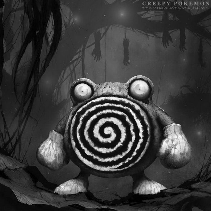 Действительно страшные покемоны: картины David Szilagyi
