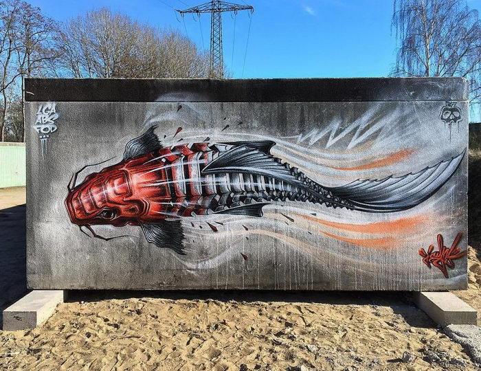 Необычные граффити художника Jayn