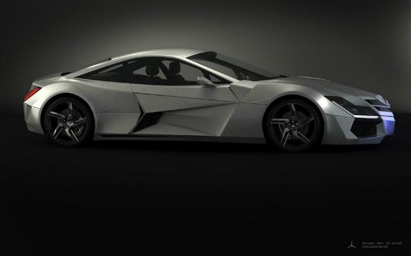 Космический концепт автомобиля Mercedes Benz SF1