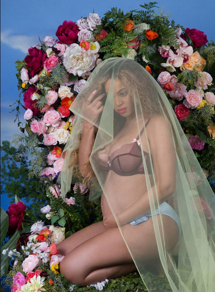 Беременная фотосессия Beyonce