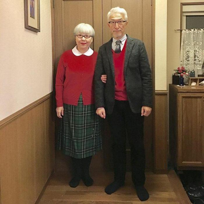 Японская пара всегда надевает сочетающиеся наряды