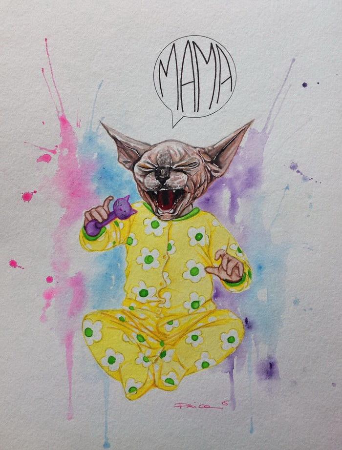 Сфинксы в рисунках Vanessa a.k.a Psyca