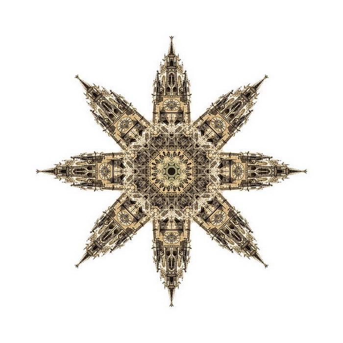 Архитектурные коллажи Cory Stevens