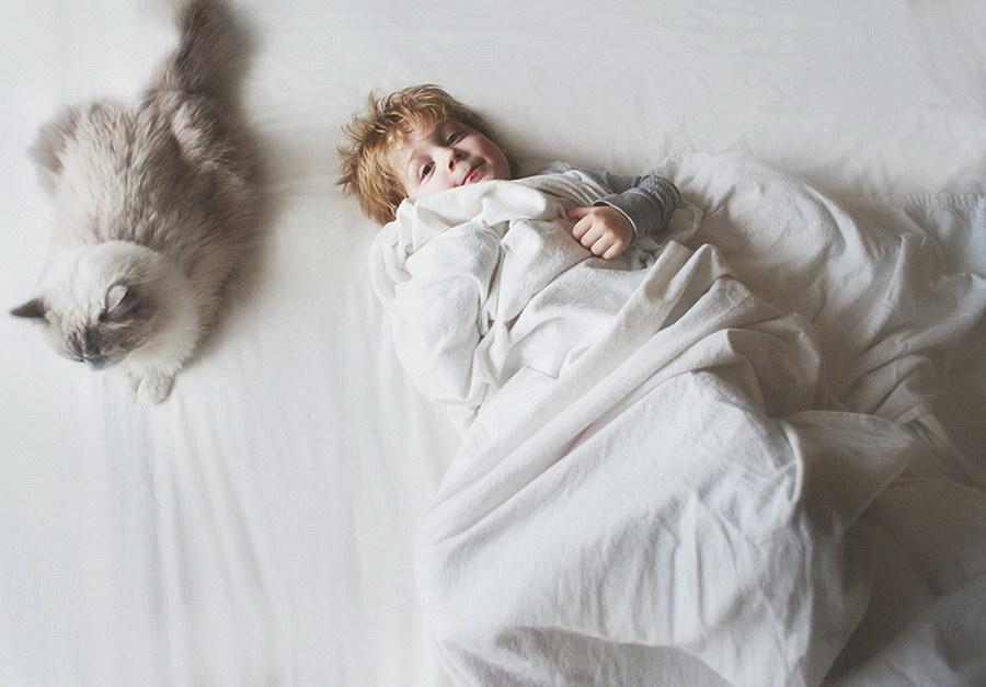 Дети и кошки в фотопроекте Beth Mancuso