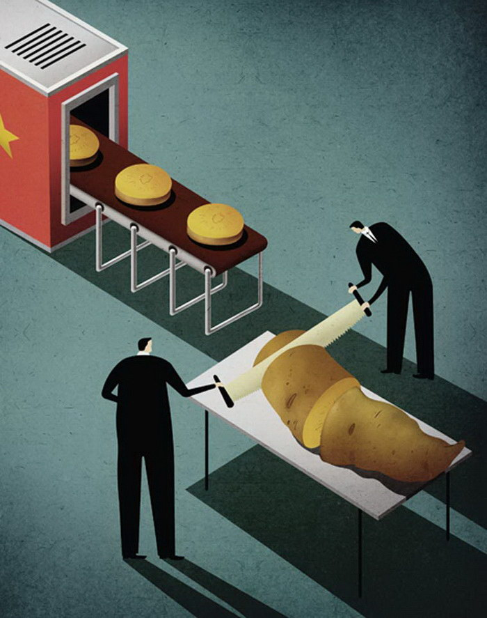Сатирические иллюстрации Kai Ti Hsu