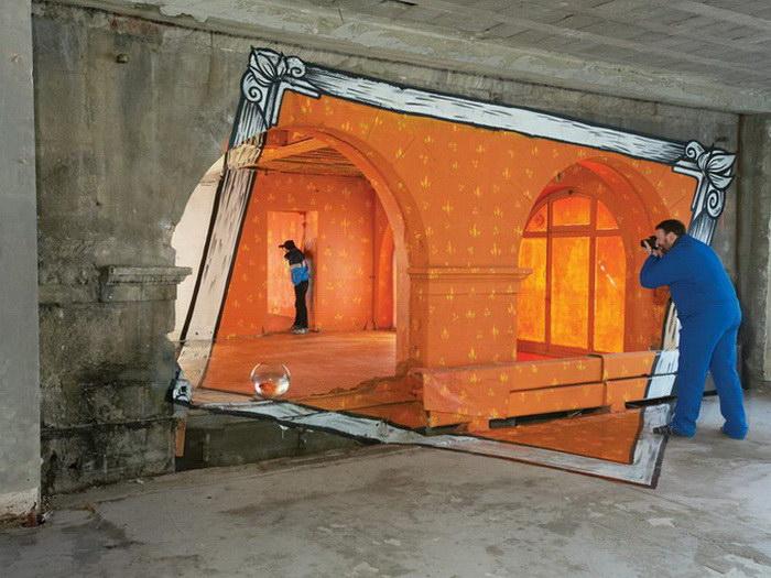 Оптические иллюзии художников Ella & Pitr