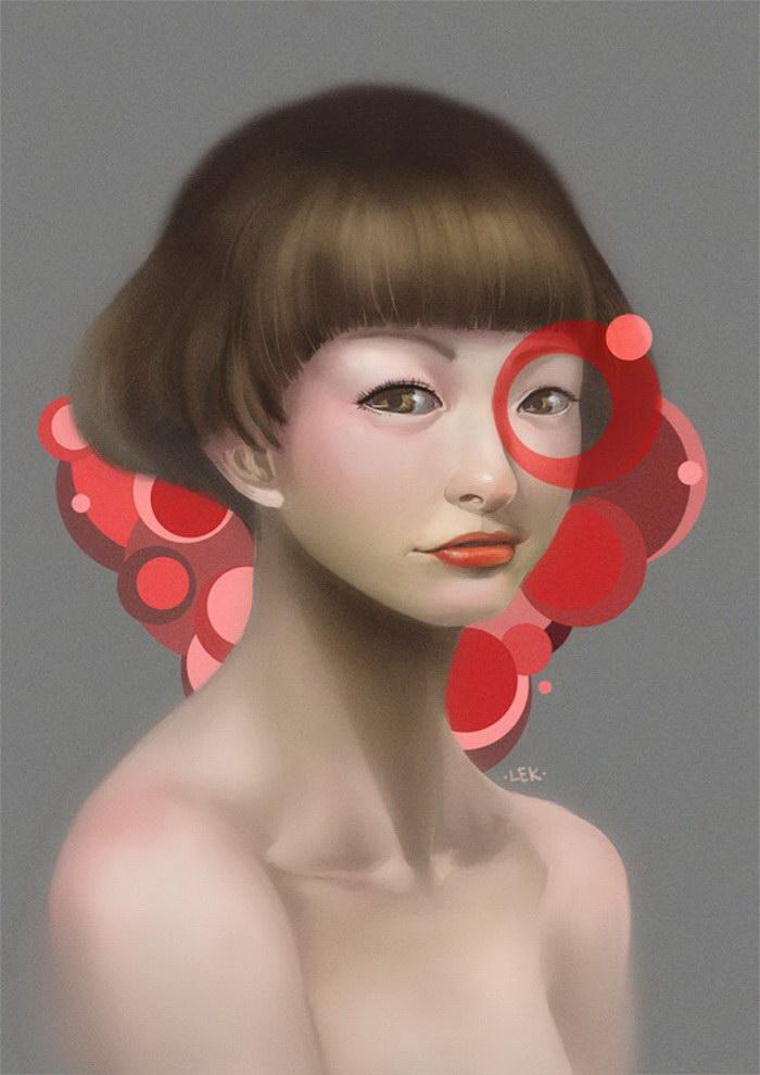 Цифровые автопортреты LEK Chan