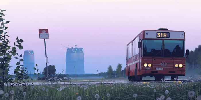 Футуристические иллюстрации Simon Stalenhag