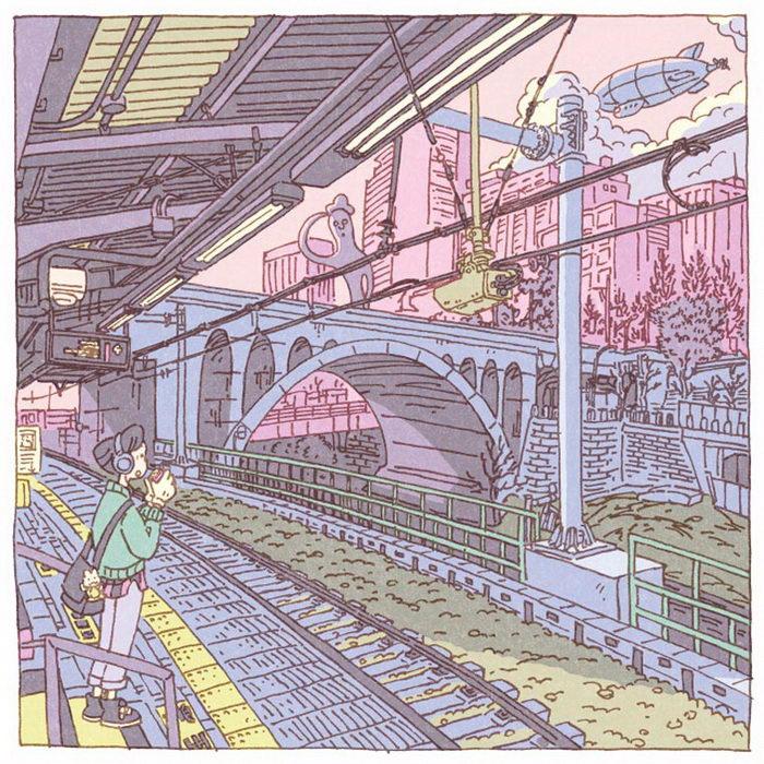Токио в иллюстрациях Shinji Tsuchimochi