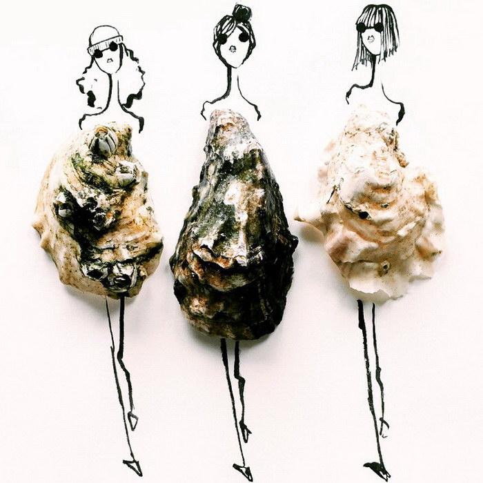 Мода и еда: коллажи Gretchen Roehrs