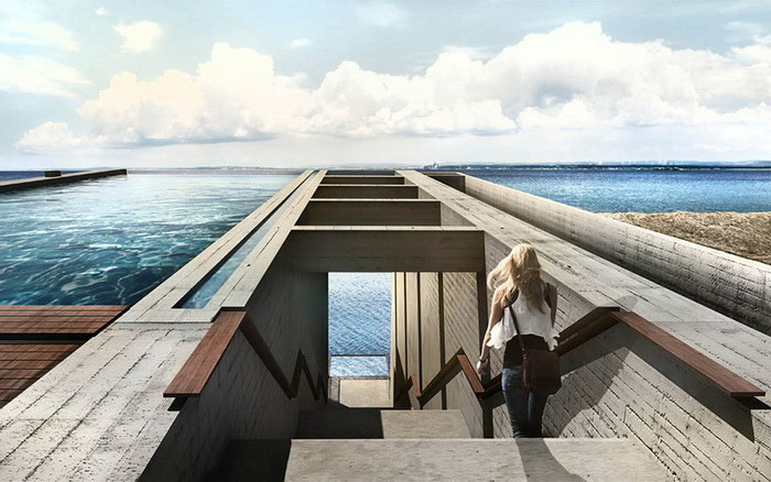 Невероятный дом в скале с прекрасным видом на море